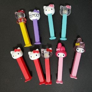 9 Hello Kitty and My Melody PEZ dispensers